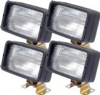 *Pack Of 4* Work Lamps H3 12V Oblong